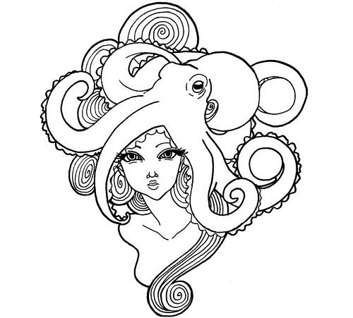 Octopus Girl Tattoo