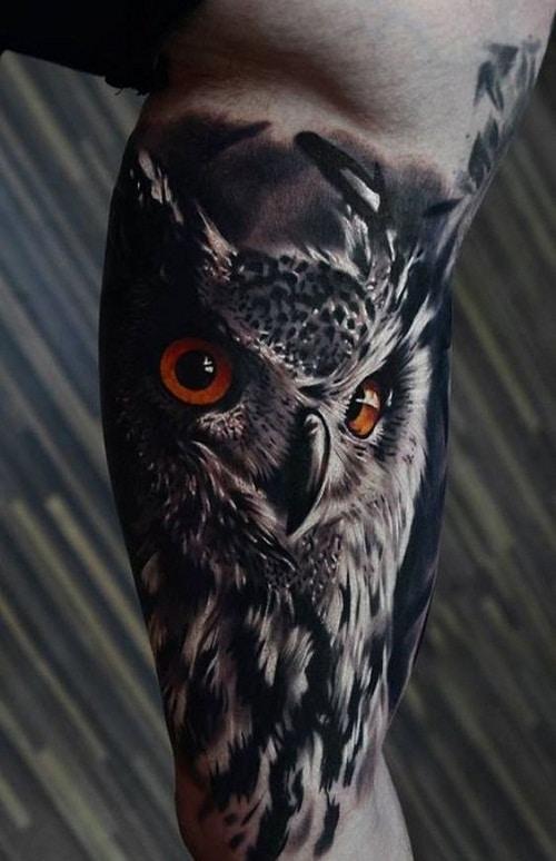 3D Owl Tattoo