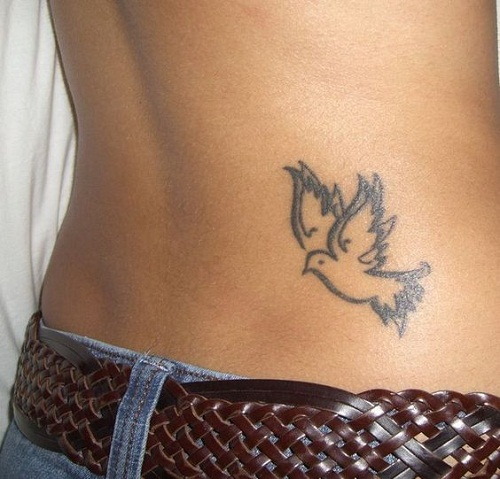 Amazing Dove Tattoos On Lower Back