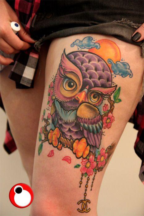 Amazingly Cute Owl Tattoo