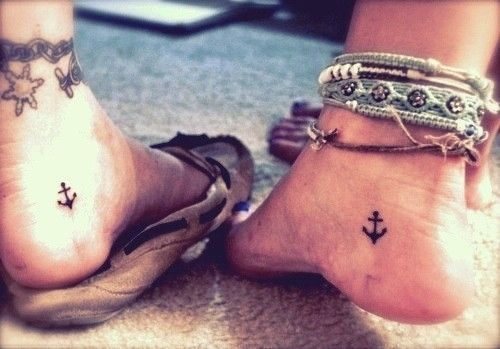Anchors Foot Tattoos
