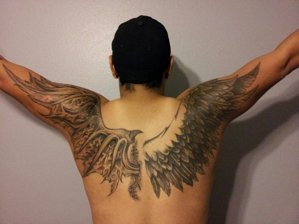 Angel Wings Shoulders Tattoos: 100 Best Angel Tattoos For Men And Women
