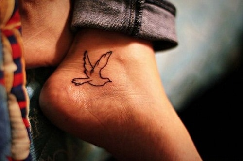 Ankle Tattoo Dove