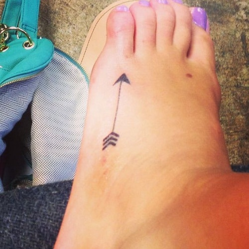 Arrow Side Foot Tattoo