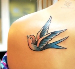 Swallow Tattoo Shoulder