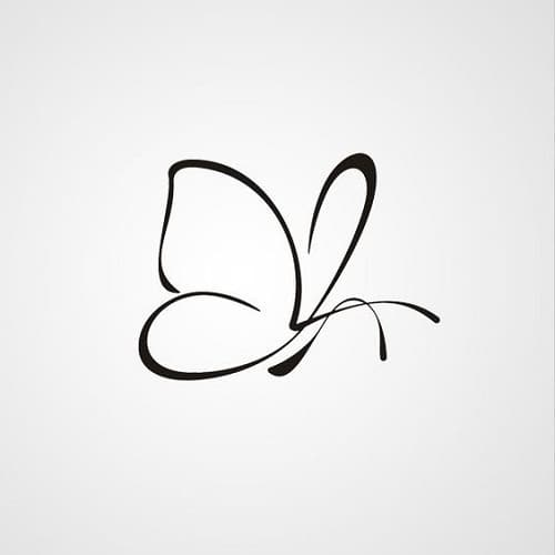 Black Butterfly Tattoo Outline