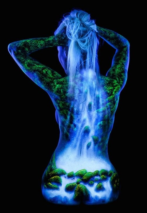 Black Light Bodyscape Paint Models