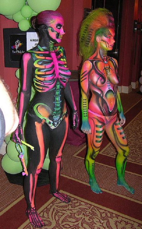 Colorful Body Paint Models