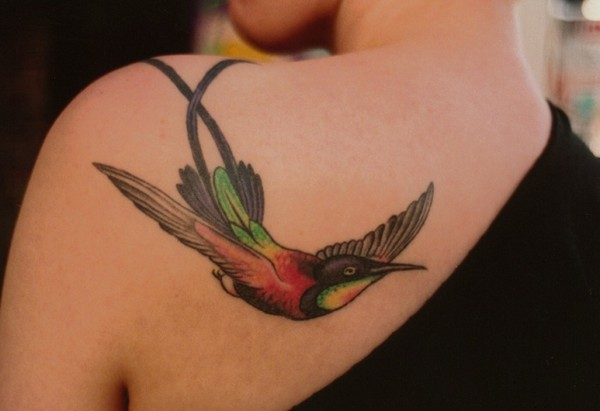 Cute Humming Bird Tattoo