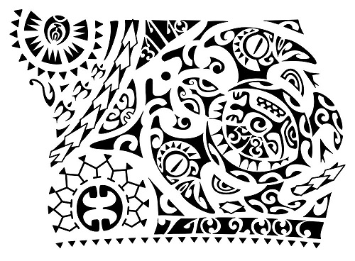 Different Design Polynesian Symbols Tattoo