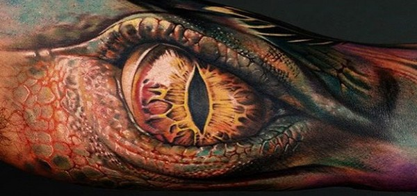 Dragon Eye Sleeve Tattoo