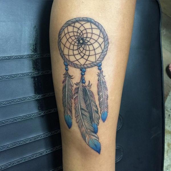 Dream Catchers Symbolism 40 Unique Dreamcatcher Tattoos with Images Piercings Models 34