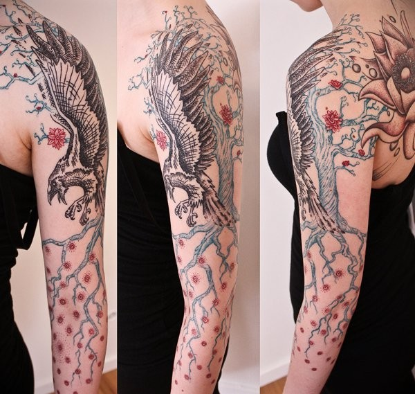 Eagle Sleeve Tattoo