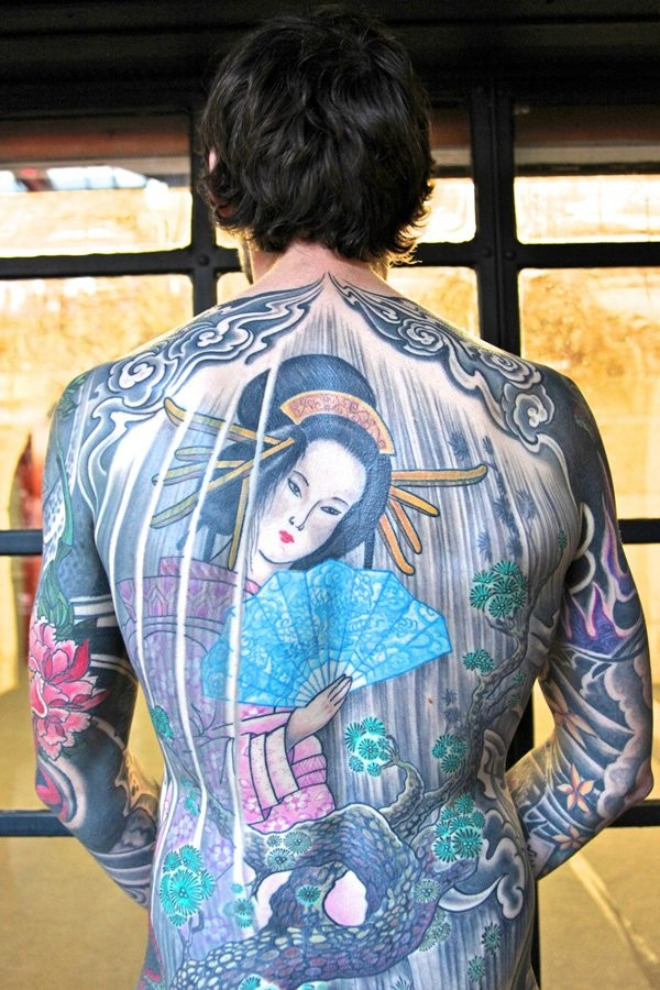 Geisha Tattoo Designs For Men