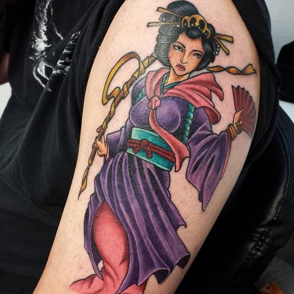 Geisha Tattoo Outlines Sketches