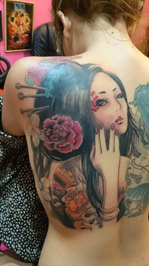Geisha Tattoos Designs And Ideas