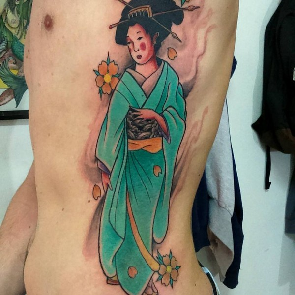 Geisha Tattoos Designs Outlines
