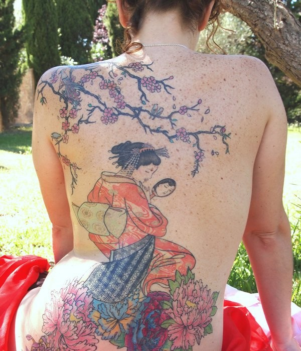 Geisha Tattoos Outlines
