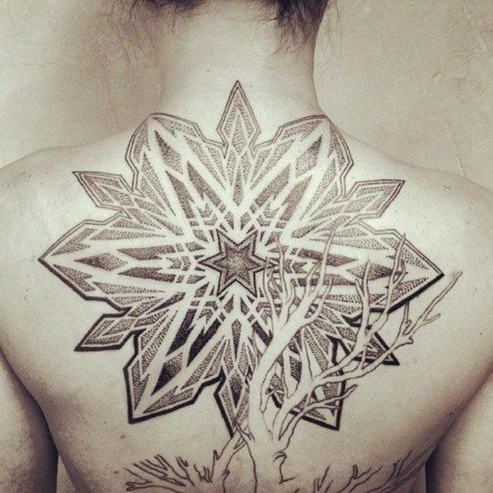 Star Tattoos For Back