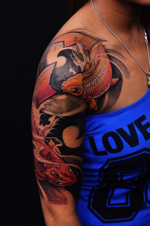 Half Sleeve Koi Tattoo
