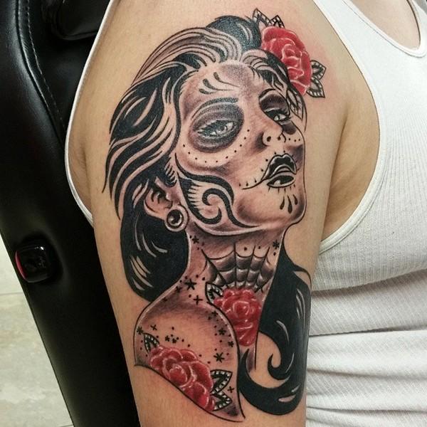 Half Sleeve Tattoo Sugar Skull