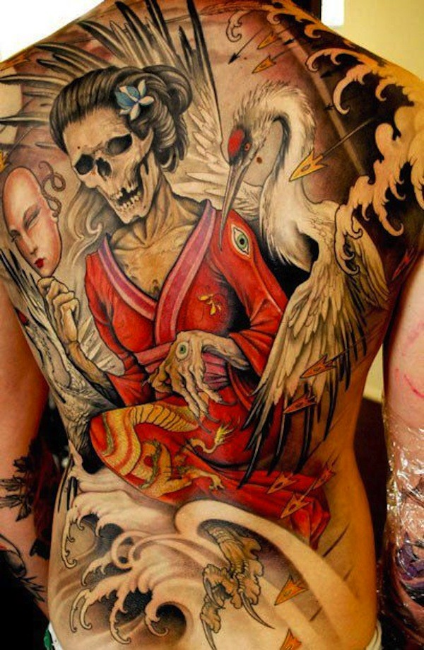 Japanese Geisha Tattoo Designs