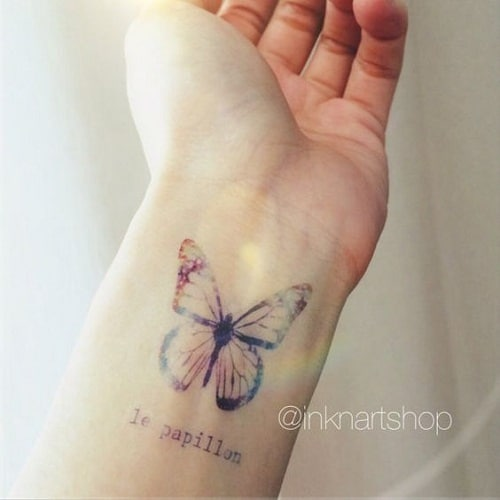 Le Papillon Butterfly Tattoo