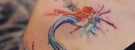 Mermaid Shoulder Tattoo