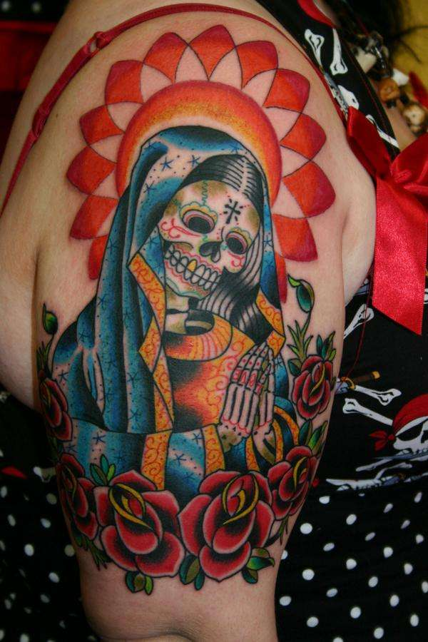 Nice Sugar Skull Tattoo