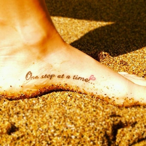 One Step at a Time Foot Tattoo