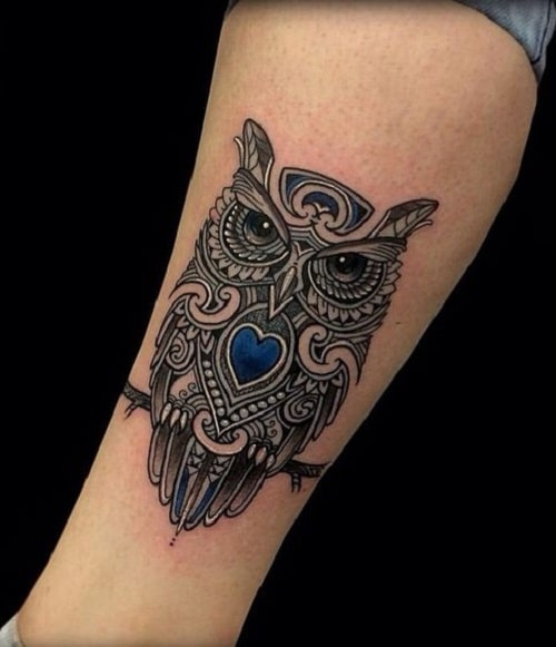 Outstandingly Detailed Owl Tattoo on Arm