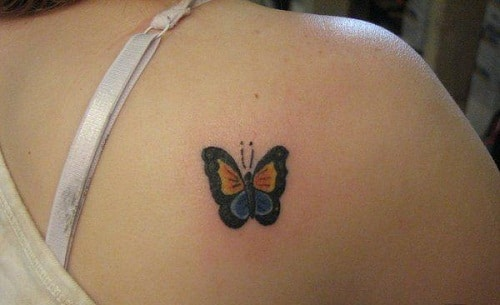 Butterfly on Lower Shoulder Tattoo