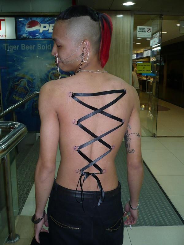 Corset Piercing Scars