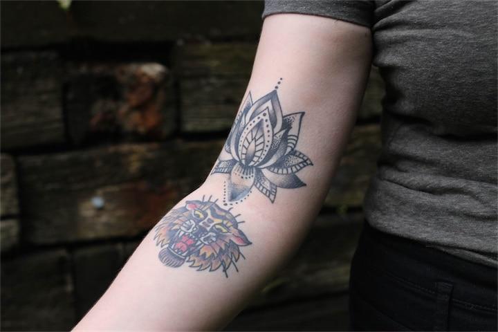 Wrist Arm Tattoo Flower