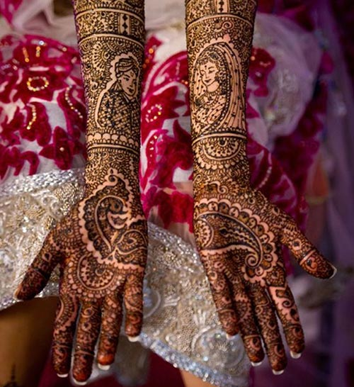 Amazing Peacock Bridal Mehndi Designs