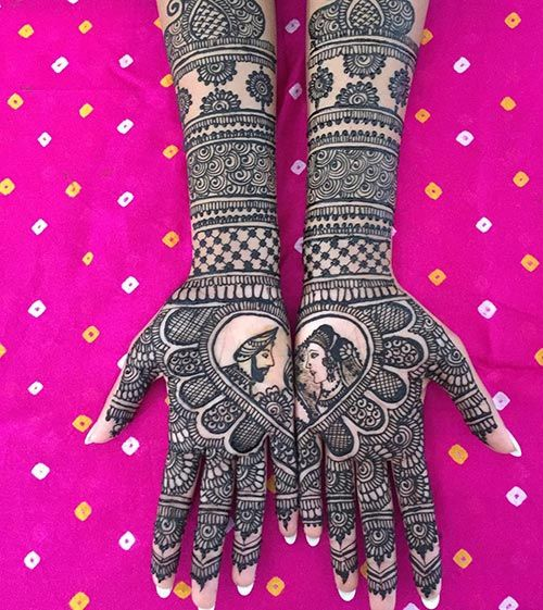 Arab Couple Bridal Mehndi Designs