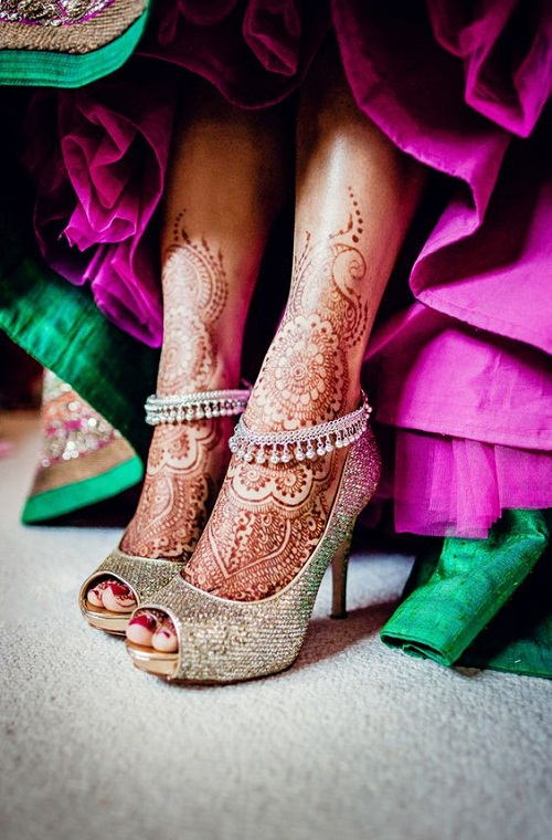 Arab Foot Bridal Mehndi Designs