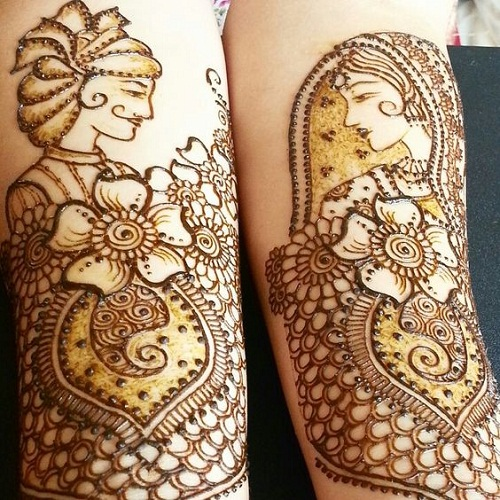 Bride and Groom Bridal Mehndi Designs