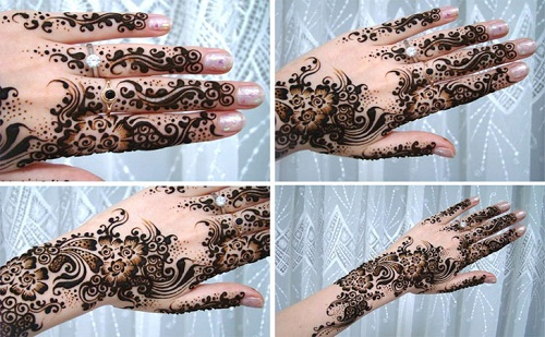 Brown and Black Swirls Bridal Mehndi Designs
