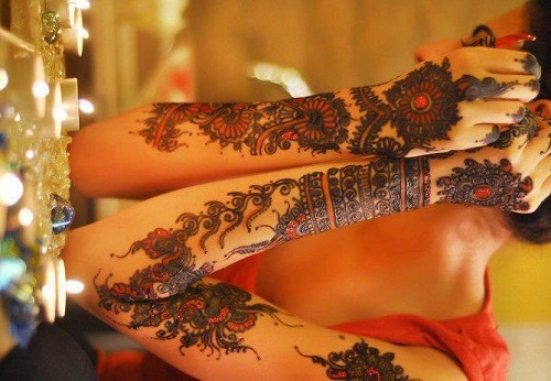 Combination Bridal Mehndi Designs