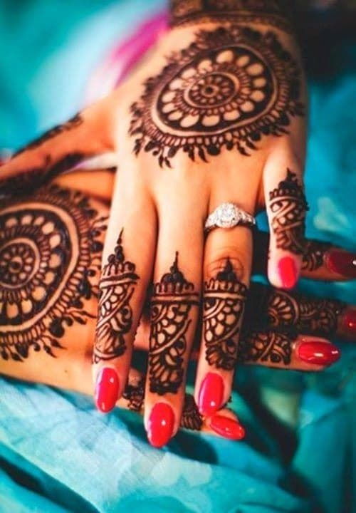 Diamond Ring Bridal Mehndi Designs