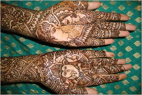 Dulha and Gabesha Bridal Mehndi Designs