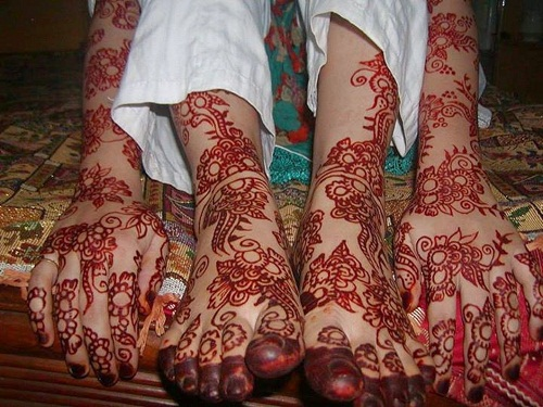 Feet and Hands Bridal Mehndi Designs