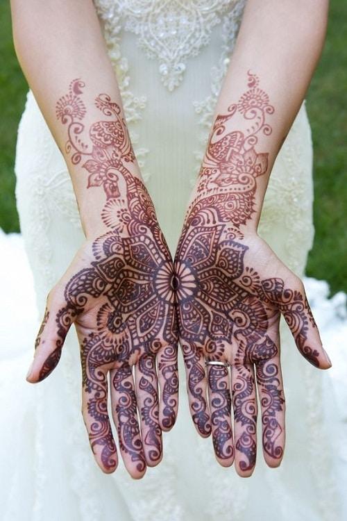 Full Flower Bridal Mehndi Designs