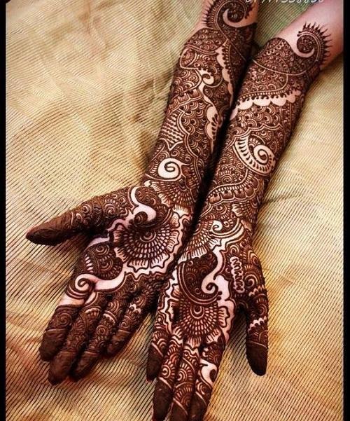 Matrimony Bridal Mehndi Design