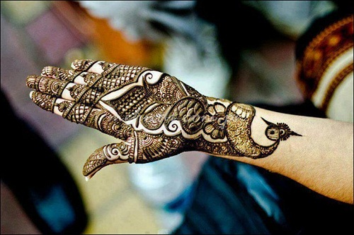 Peacock Pakistani Bridal Mehndi Designs