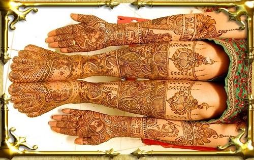 Peacocks and Couple Bridal Mehndi Designs