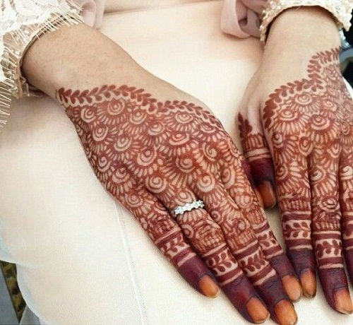 Reddish Brown Henna Bridal Mehndi Designs