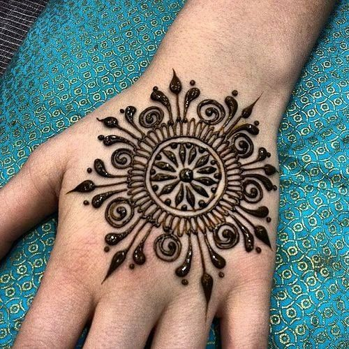 Stylish Sun Bridal Mehndi Designs
