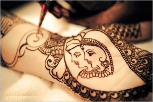 Wedding Couple Bridal Mehndi Designs
